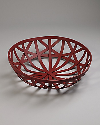 CoutureLab Home - Red Leather Basket: CoutureLab.com :  bowl