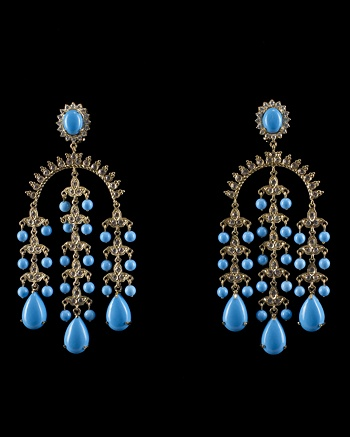 Diamond Turquoise Earrings - CoutureLab Jewelry - CoutureLab.com