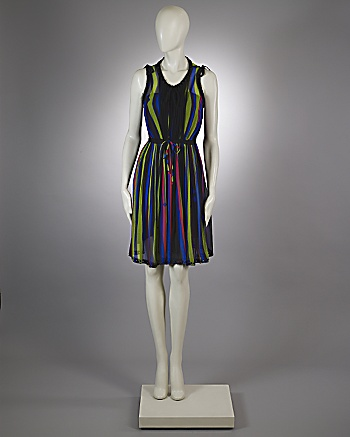 CoutureLab.com :  one of a kind silk stripes couture