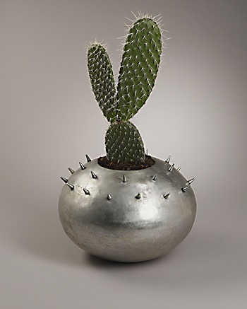 Bronzino Collection - Large Urchin Plant Pot: CoutureLab.com :  bronzino collection silver metallic plant