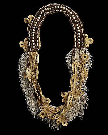 Walid for CoutureLab - Beaded Antique Necklace: CoutureLab.com :  necklace textile antique