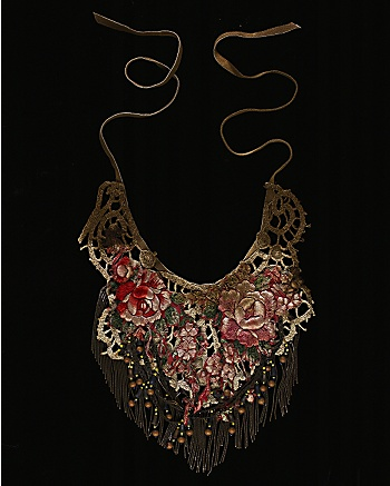 Walid for CoutureLab - Flower Lace Necklace: CoutureLab.com :  couturelab print clothing women