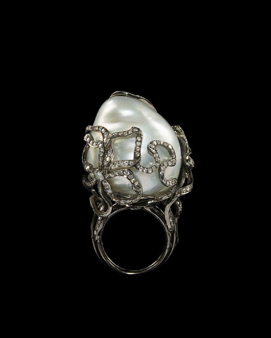 Baroque Pearl Ring Lydia Courteille Collection CoutureLab com from couturelab.com