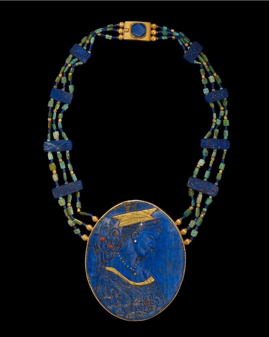 Ancient Lapis Lazuli Necklace - Jean-Francois Fichot Collection - CoutureLab.com