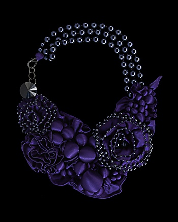 BeaValdes for CoutureLab Fleurs Du Mal Necklace CoutureLab com from couturelab.com