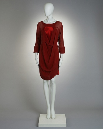 Silk Cowl Layer Dress - Hamish Morrow for CoutureLab - CoutureLab.com