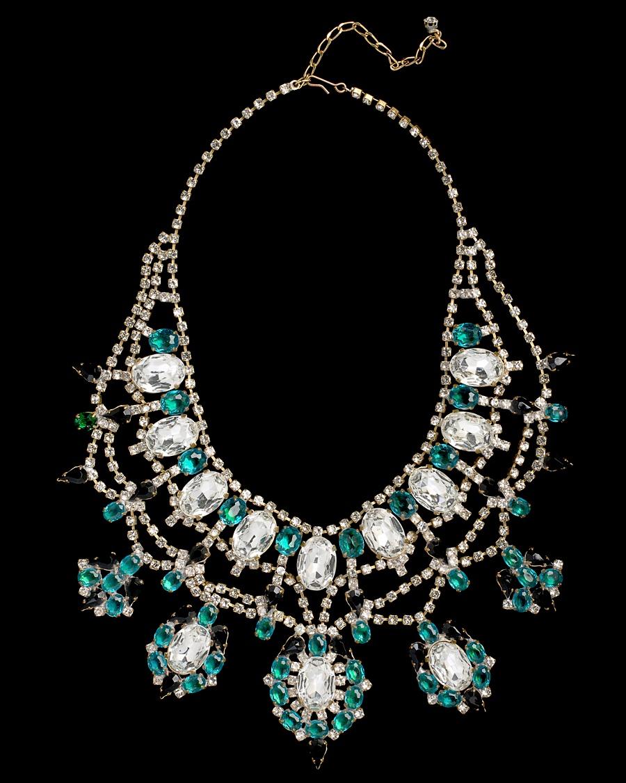 Vintage Crystal Gem Necklace - Karry'O for CoutureLab - CoutureLab.com