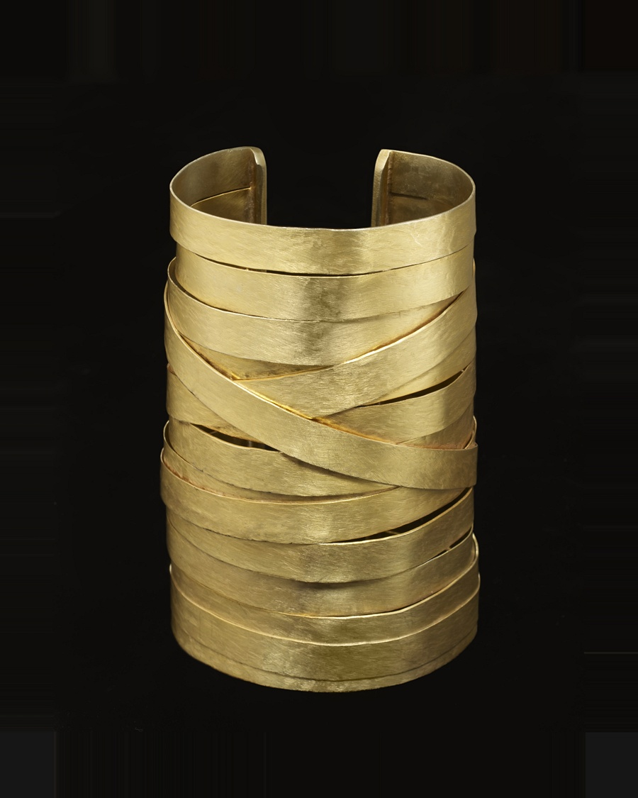 Gold Ribbon Cuff - Osanna Visconti for CoutureLab - CoutureLab.com