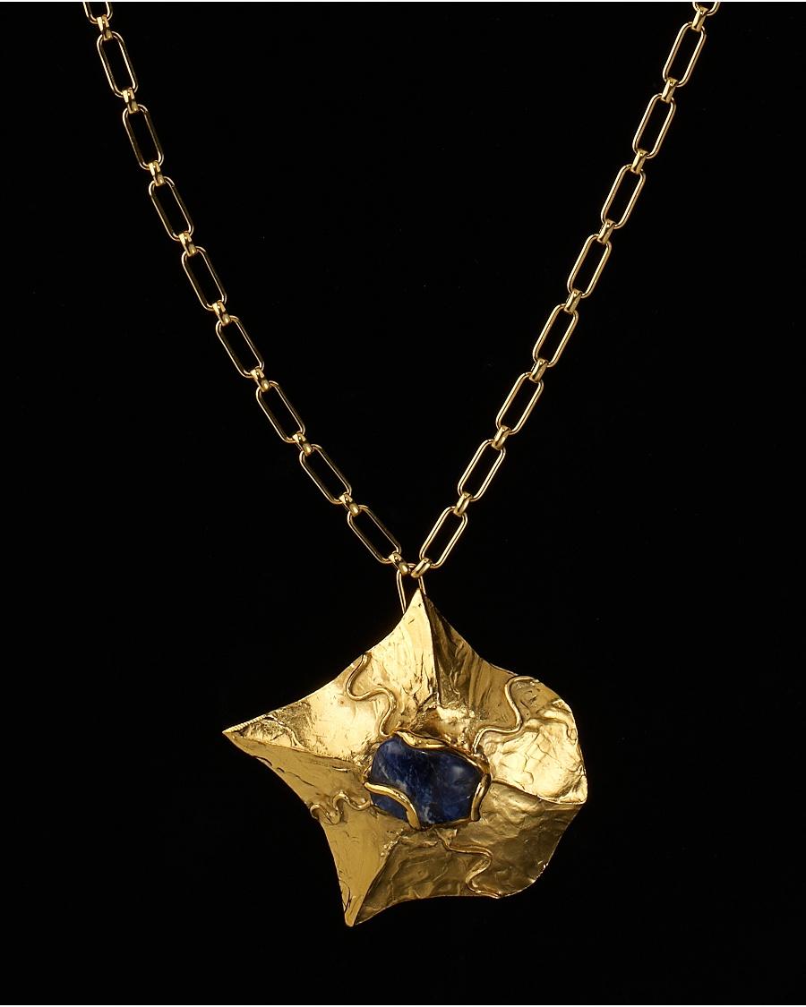 Vintage Lapis Lazuli Pendant  - Karry'O for CoutureLab  - CoutureLab.com