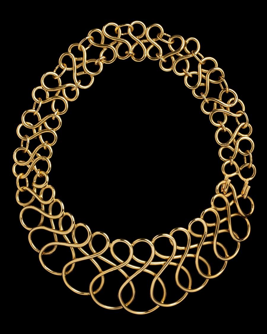 Golden Spiral Necklace - Karry'O for CoutureLab  - CoutureLab.com