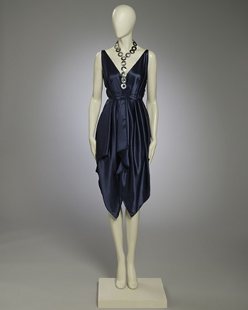 Navy Handkerchief Dress - Alexis Mabille for CoutureLab - CoutureLab.com