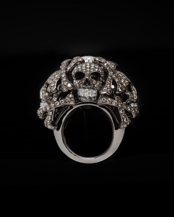 Diamond Skull Ring - Lydia Courteille Collection - CoutureLab.com
