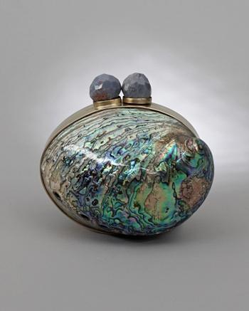 Maricel Soriano Paua Clutch - Celestina Collection - CoutureLab.com