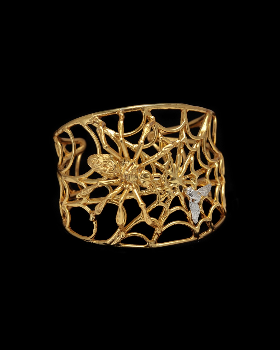 Gold Spider Bracelet - Delfina Delettrez for CoutureLab - CoutureLab.com