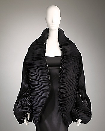 CoutureLab.com :  one of a kind black silk organza