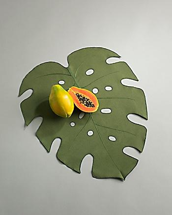 CoutureLab Home   Tropical Leaf Placemats  CoutureLab com from couturelab.com
