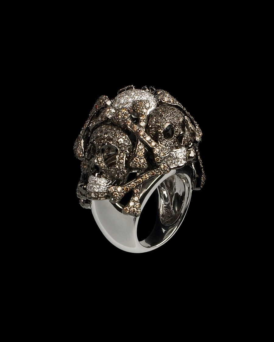 Diamond Skull Ring - Lydia Courteille Collection - CoutureLab.com :  couturelab designer clothing accessorize lydia