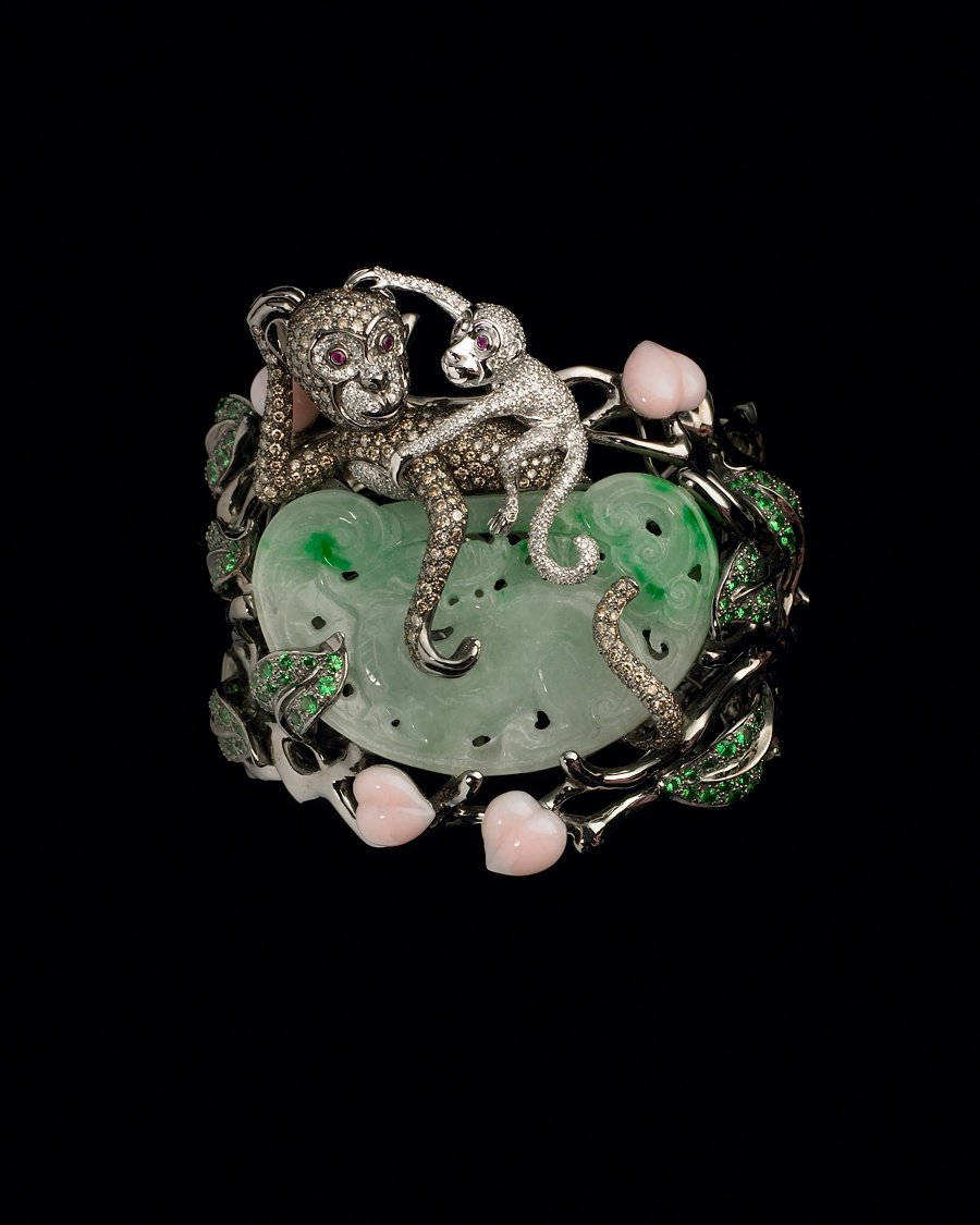 Diamond Monkey Cuff - Lydia Courteille Collection - CoutureLab.com