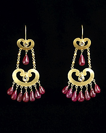 CoutureLab.com :  earrings couturelab chandelier gold