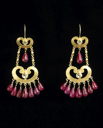 Crystal Chandelier Earrings - Roumeguere for CoutureLab - CoutureLab.com